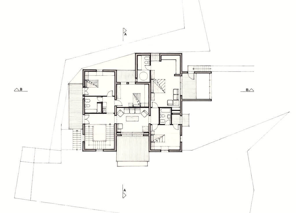 Lebanese traditional house rm architecture for Traditional home floor plans