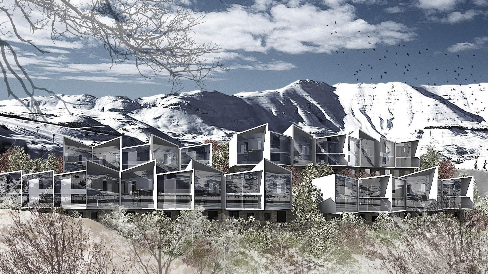 Z 5596 chalets compound rm architecture architectural for Architectural designs for chalets